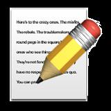 https://maessage.wordpress.com • pictogramme « memo » / « mémo » : annonce une page à dominante de texte