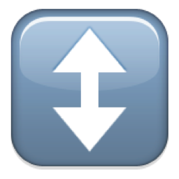 https://maessage.wordpress.com • pictogramme « up down arrow » / « flèche haut-bas » : annonce l'agrandissement du visuel ou de l'œuvre artistique dans une nouvelle fenêtre