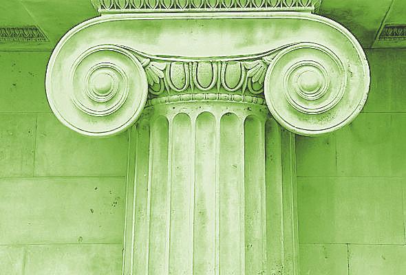 https://maessage.wordpress.com — logo « Plan de la colonne de droite » • chapiteau grec de l'ordre ionique